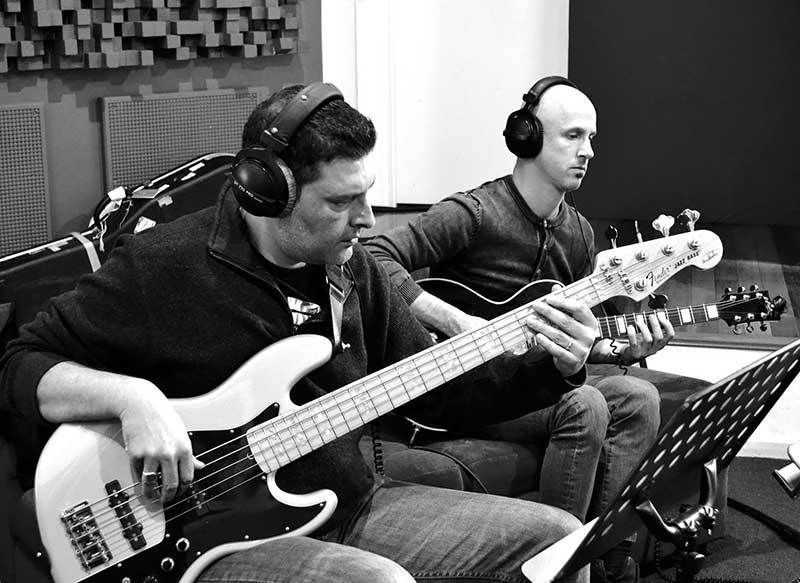 jeremy-and-simon-in-studioBW